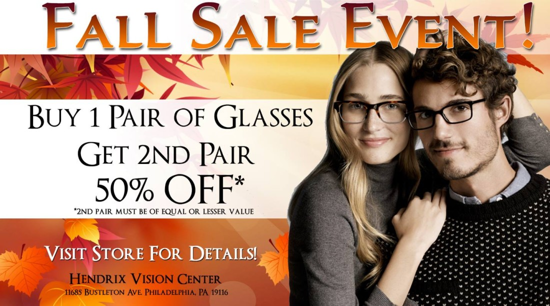 Hendrix Vision Center Fall Sale
